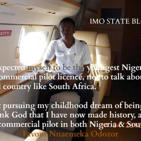 20yr old Imo State indigene makes history as youngest graduate with a Commerical Pilot Licence!!
