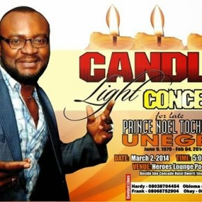 Details of the Candle Light Concert in honour of late Prince Noel Tochukwu.