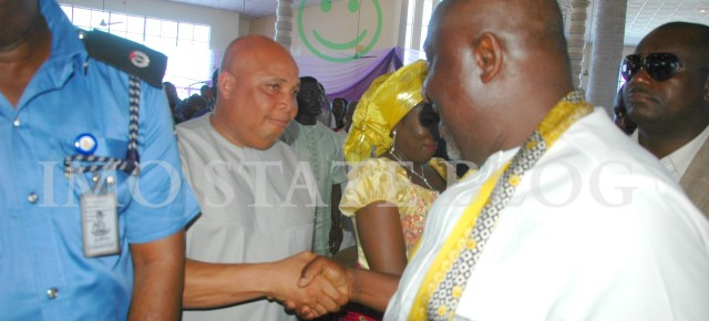 PHOTO OF THE DAY: Governor Okorocha and Chief Martin Agbaso :)
