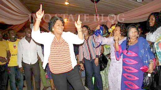 PHOTO OF THE DAY: Imo First lady on the dance floor.