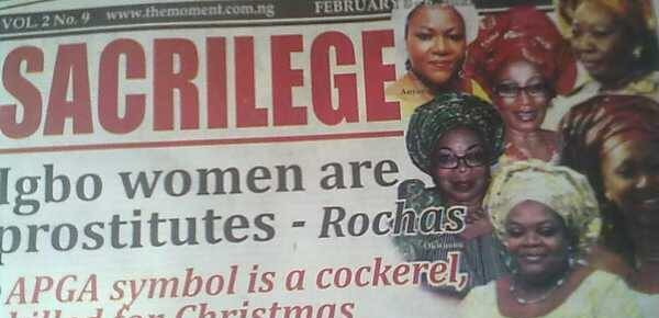 Did Governor Rochas Okorocha actually refer to Igbo women as Prostitutes?