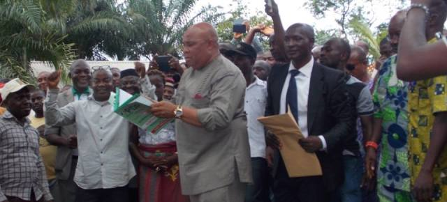 IMO GUBER 2015: Agbaso picks PDP nominations form. (Photos)