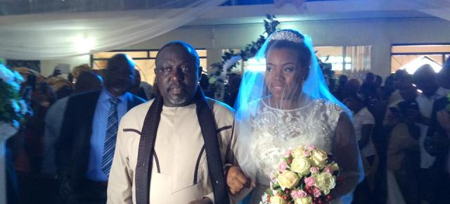 Governor Okorocha gives away second daughter, Uju. (White wedding Photos)