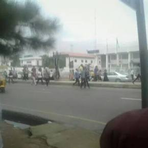 Chaos as angry students take over the streets of Owerri.