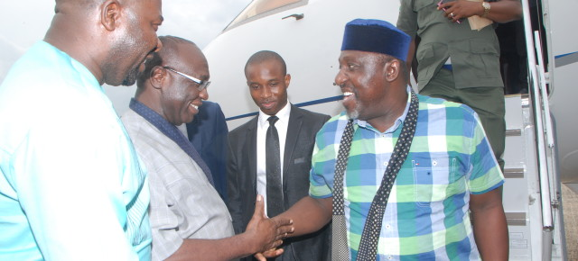 UPDATE: Governor Okorocha returns from brief vacation abroad.