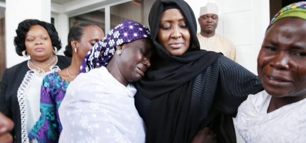 Mrs Buhari meets with parents of Chibok girls.