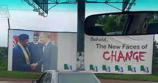 Gov.Okorocha distances self from bill-board Photograph With Pres. Obama.