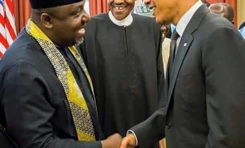 PICTURES: Governor Okorocha accompanies President Buhari to meet US President Barack Obama, VP Joe Biden.