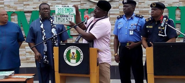 IMSG unveils new Government House plate numbers.