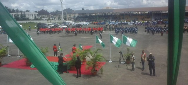 Pictures: 55th Independence Anniversary celebrations held at Heroes Square, Owerri.