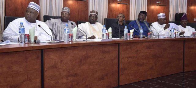 PHOTOS: Governor Okorocha back to work;  chairs Progressive Governors Forum in Kaduna.