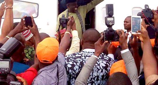 PHOTOS: Governor Okorocha makes grand entrance into Owerri