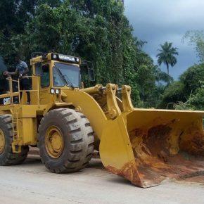 PHOTOS: Road repairs commence on Owerri-Anara rd.